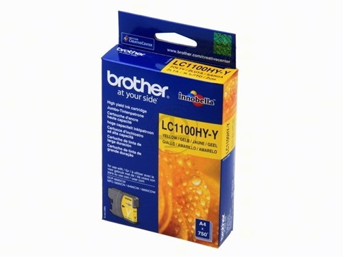 Brother LC1100HYY cartridge geel