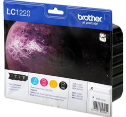 Brother Bundle LC-1220 Zwart, Cyaan, Magenta, Geel