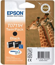 C13T07114H20 EPSON DX7450 TINTE BLACK 2x11,1ml Durabrite Ultra