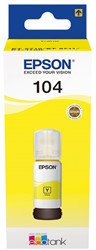 C13T00P440 EPSON 104 INK YELLOW 65ml 7500pages bottle EcoTank