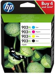 3HZ51AE HP OJ PRO6950 INK (4) CMYK HC HP903XL 4x825pages high capacity