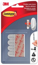 Bevestigingsstrips small 3M Command wit