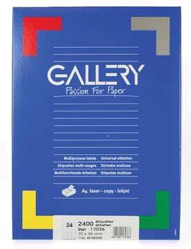 etiketten 229 x 324 mm met venster rechts doos van 250 stuks