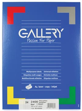 Etiketten 70  x 37mm 24 etiketten per vel wit universeel