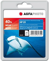 HP 15 compatible cartridge AgfaPhoto C6615D zwart + 40% extra