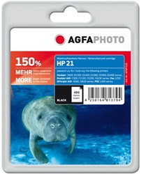 HP 21 compatible cartridge AgfaPhoto C9351A zwart 150% extra inhoud