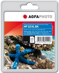 HP 10XL compatible cartridge AgfaPhoto C4844A zwart high capacity