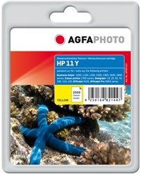 HP 11 compatible cartridge AgfaPhoto C4838A geel