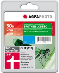 AGFA Photo inktcartridge Brother LC985C   7ml cyan + 45% extra inhoud