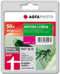 AGFA Photo inktcartridge Brother LC985M 7ml magenta + 45% extra inhoud