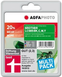 AGFA Photo inktcartridge Brother LC985SET 1x12mlbk+3x7ml ink cmy
