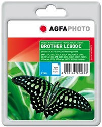 AGFA Photo inktcartridge Brother LC900C 18ml 400pages 5%cov cyan