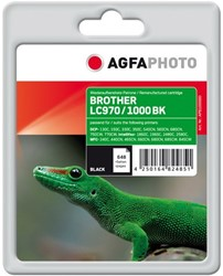 AGFA Photo inktcartridge Brother LC970/LC1000BK 21ml black incl chip
