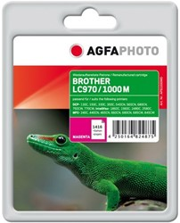 AGFA Photo inktcartridge Brother  LC970/LC1000M magenta  11ml magenta incl chip