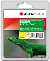 AGFA Photo inktcartridge Brother LC970/LC1000Y  yellow 11ml yellow incl chip