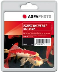 AGFA Photo inktcartridge CANON BCI24BK 9ml 125pages 5% black