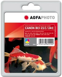 AGFA Photo inktcartridge CANON BCI24C  15ml 356pages 5%cov color