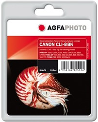 AGFA Photo inktcartridge CANON CLI8BK  MP-800 K 15,5ml 612pag black chip 15,5ml 612pag/5%cov black chip