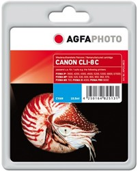 AGFA Photo inktcartridge CANON CLI8C  MP-800 CY 15,5ml 612pag cyan chip 15,5ml 612pag/5%cov cyan chip