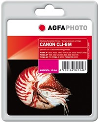 AGFA Photo inktcartridge CANON CLI8M  MP-800 MAG 15,5ml 612pag mag chip 15,5ml 612pag/5%cov mag chip