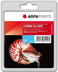 AGFA Photo inktcartridge CANON CLI8PC  IP6600D 15,5ml photo cyan chip 15,5ml photo cyan chip