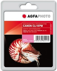 AGFA Photo inktcartridge CANON CLI8PM  IP6600D 15,5ml photo magenta incl chip 15,5ml photo magenta incl chip