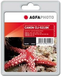 AGFA Photo inktcartridge CANON CLI521BK  10,5ml black 10,5ml black incl chip