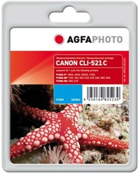 AGFA Photo inktcartridge CANON CLI521C AP MP-450 C 10,5ml cyan 10,5ml cyan incl chip