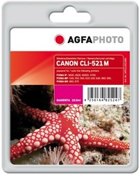 AGFA Photo inktcartridge CANON CLI521M  MP-450 M 10,5ml magenta incl chip 10,5ml magenta incl chip