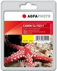 AGFA Photo inktcartridge CANON CLI521Y  MP-450 Y 10,5ml yellow incl chip 10,5ml yellow incl chip
