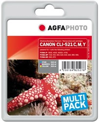 AGFA Photo inktcartridge CANON CLI521trid  MP-450 3 kleuren c m y 3x10,5ml ink cmy