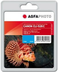AGFA Photo inktcartridge CANON CLI526C IP4850 CYA 10,5ml cyan incl chip 10,5ml cyan incl chip