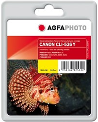 AGFA Photo inktcartridge CANON CLI526Y IP4850 YEL 10,5ml yellow incl chip 10,5ml yellow incl chip