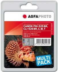 AGFA Photo inktcartridge CANON CLI526SET CANIP4850 alle kleuren 1x20ml blk+4x10,5ml cmyk