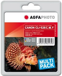 AGFA Photo inktcartridge CANON CLI526trid CANIP48503 kleuren c m y 3x10,5ml cmy