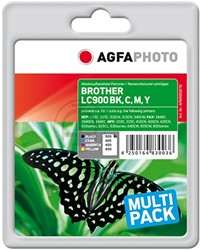 AGFA Photo inktcartridge Brother LC900SET 1x25ml black+3x18ml ink cmy