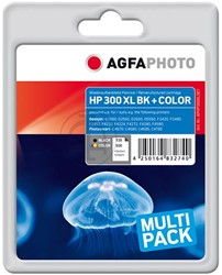 HP 300XL set compatible cartridge AgfaPhoto CC641EE + CC644EE zwart + kleuren high capacity