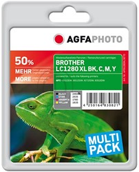 AGFA Photo inktcartridge Brother LC1280XLSET  1x60ml black / 3x15ml cmy