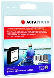 AGFA Photo inktcartridge Brother LC1000BK  20ml black Classic Design