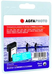 AGFA Photo inktcartridge Brother LC1100BK  20ml black Classic Design