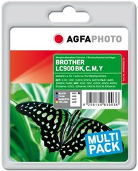 AGFA Photo inktcartridge Brother LC900SET  (4) 1x25ml black+3x18ml cmy
