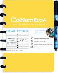 Correctbook A5 gelijnd herbruikbaar schrift, geel