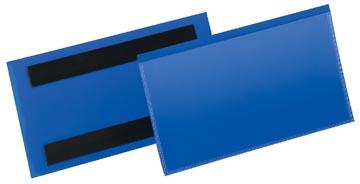 Durable magnetische labelhoes blauw, pak van 50 stuks, ft 150 x 67 mm