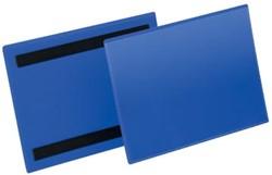 Durable magnetische labelhoes blauw, pak van 50 stuks, ft A5
