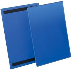 Durable magnetische labelhoes blauw, pak van 50 stuks, ft A4 verticaal