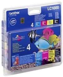 Brother bundelverpakking bevat 4 inktcartridges en glossy