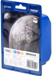 Brother bundelverpakking LC1000 Cyaan/Magenta/Geel