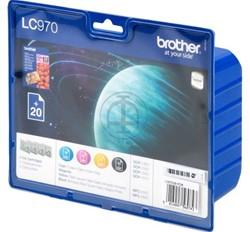 Brother bundelverpakking bevat inktcartridge LC970 en papier