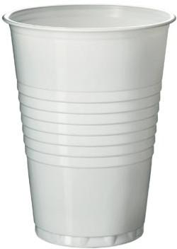 Automaatbeker uit polystyreen voor warme dranken 180 ml wit pak van 100 stuks
