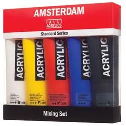 Talens acrylverf Amsterdam 5 tubes van 120 ml in niet-primaire kleuren